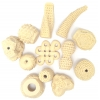 Resin Beads Irregular Chunky Shapes Natural